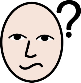unsure icon - image of concerned face